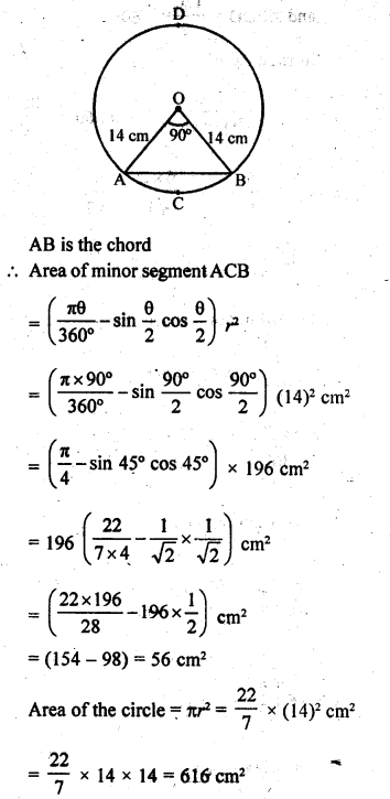 RD Sharma Class 10 Solutions Chapter 13 Areas Related to Circles Ex 13.3 - 3