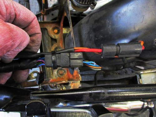 Rear Sub-frame Sub-Harness Connector Location