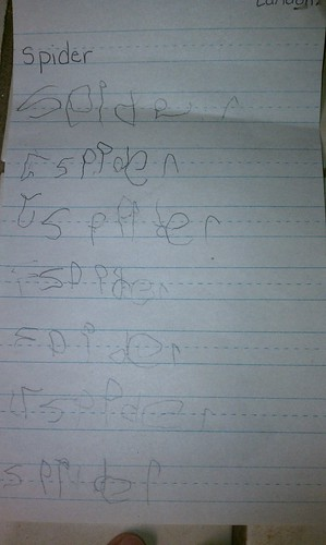 Landon's writing today 1/13/11
