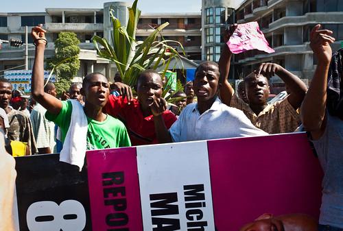 Angry-protestors