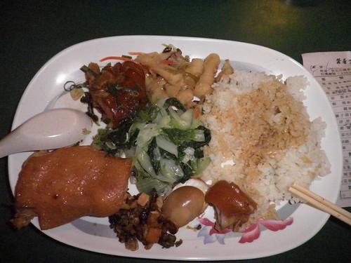 蠶居_紅燒燜雞+豬腳飯1