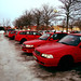 All red cars