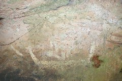 Human Figure in Canoe Pictograph