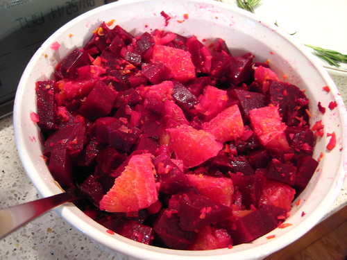 beets with raspberry vinaigrette and orange