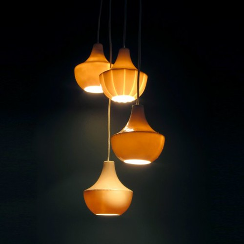 Porcelain Drop Lamp - Scallop