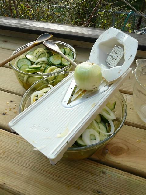 Refrigerator Pickles - Slicing Onions