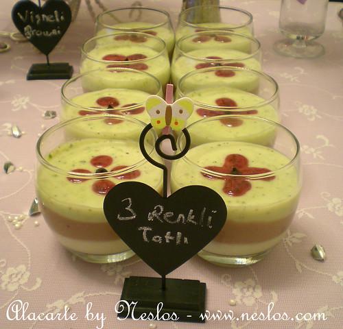 3 renkli tatlı