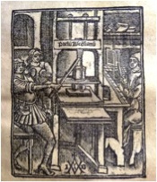 image of an antique printing press