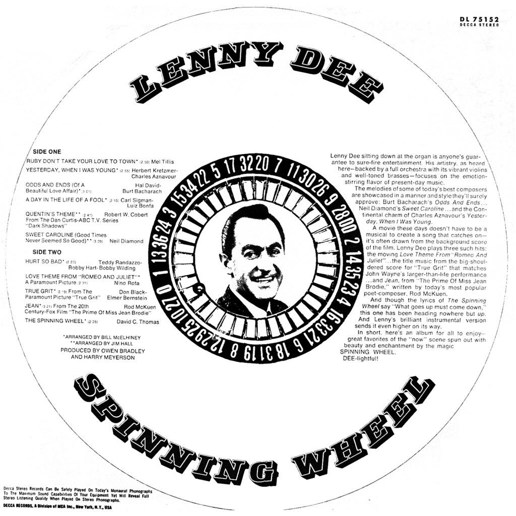 Lenny Dee - Spinning Wheel