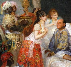 Berlusconi Seraglio, after Fernand Cormon