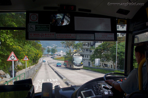 Going to Mui Wo by bus, Lantau Island, HK 2010