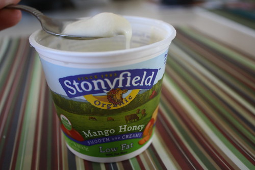 Stonyfield Mango Honey yogurt
