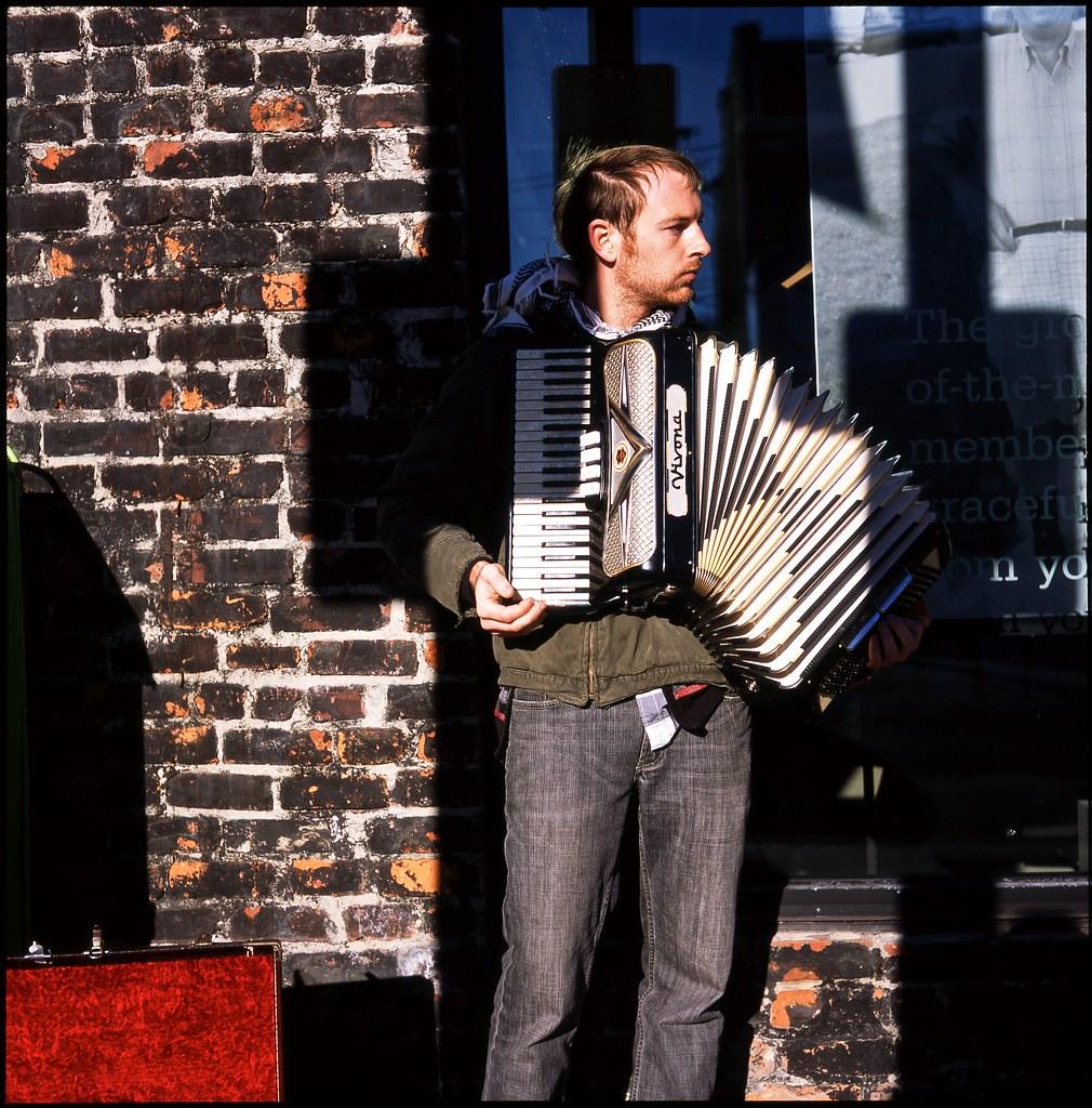 accordion busker