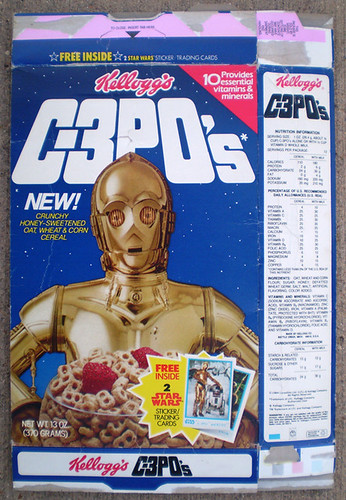 1984 Kellogg's Star Wars C-3PO's Cereal Box Front