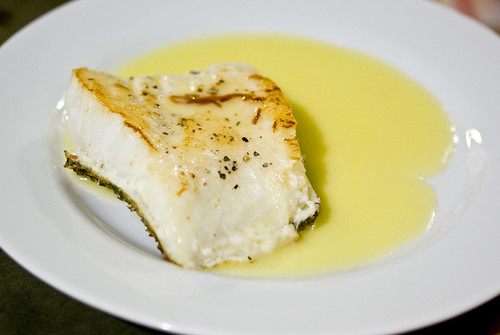 sea bass with beurre blanc