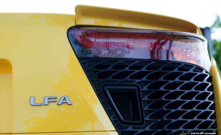 yellow Lexus LFA tail light