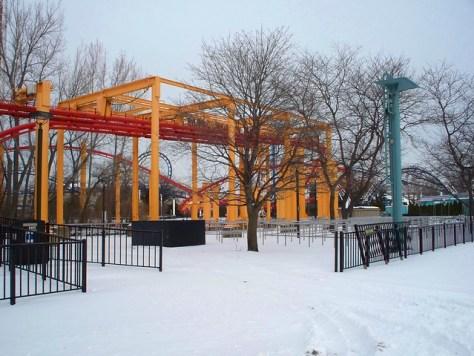 Cedar Point - Off-Season Iron Dragon
