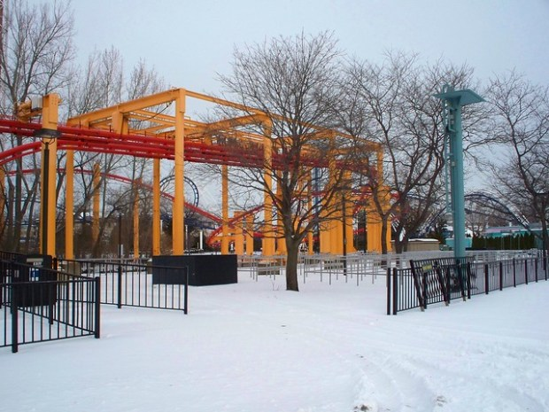 Cedar Point - Off-Season Iron Dragon
