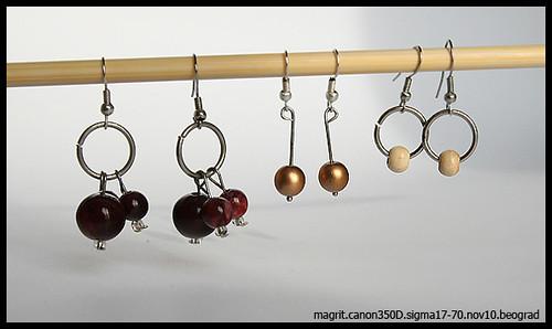 3 sets of earings