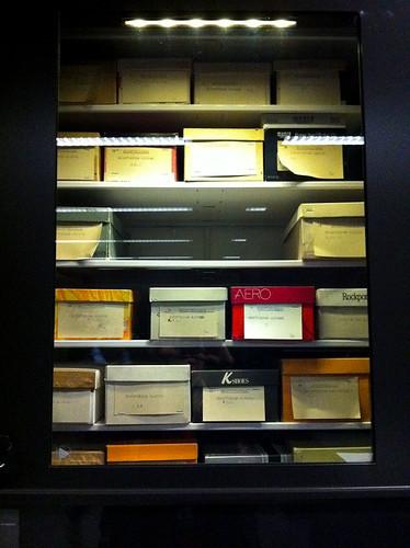 Beaty Museum - Storage shoe boxes