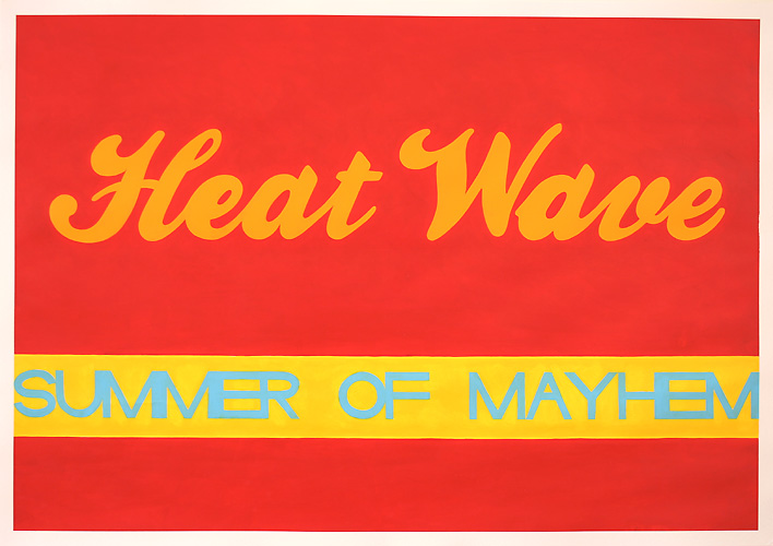 Heat Wave, Acrylic on Paper, 100cm x 70cm by Robin Clare
