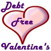 Debt Free Valentine's Day Logo