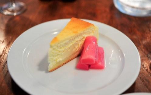 Baked Vanilla Cheesecake & Rhubarb