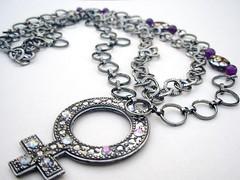 Female Gender Symbol Pendant Necklace