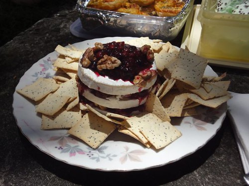 Georgia's Brie with berry jam, walnuts and lavosh