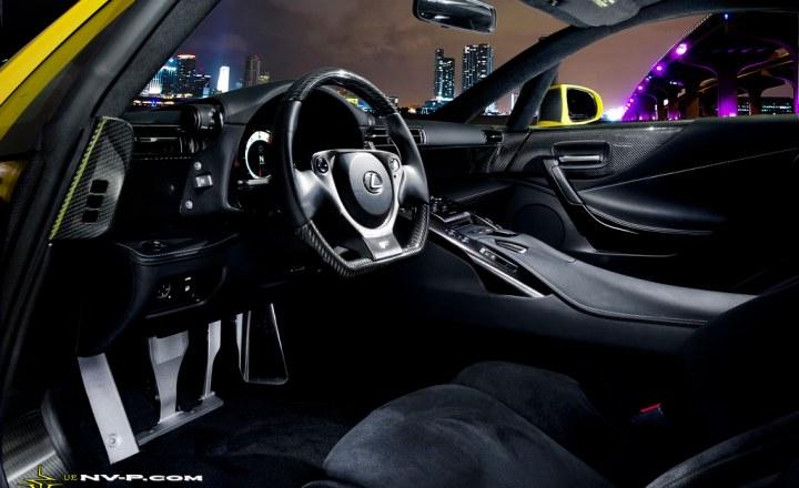 yellow Lexus LFA interior