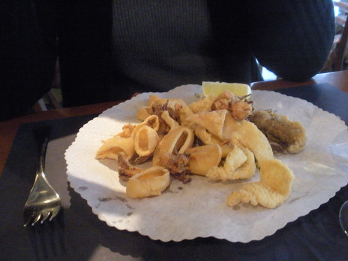 Assorted fried fish