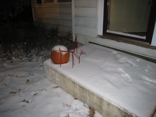 reindeer and pumpkin