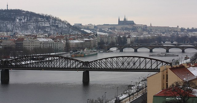 Vysehrad, Vltava river, Prazsky hrad, Prague