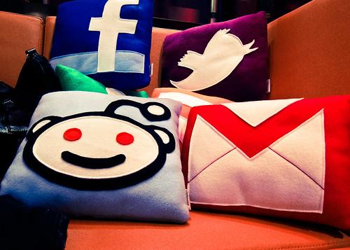 Social Media Pillows by nan palmero, on Flickr