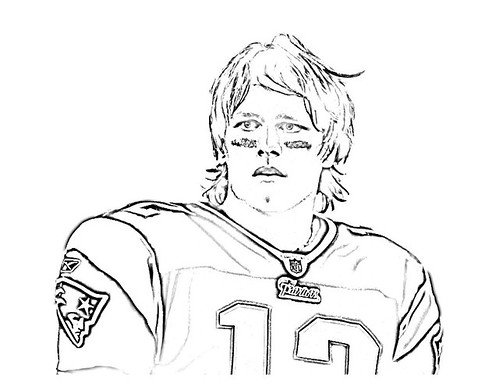 Off On A Tangent: Tom Brady Coloring Page