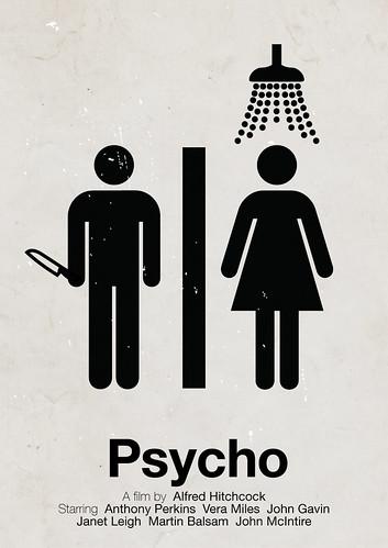 'Psycho' pictogram movie poster