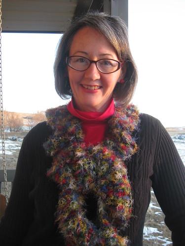 my twirly scarf