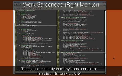 Work Screen Cap: Right Monitor