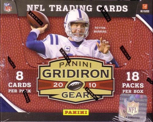 2010 Panini Gridiron Gear box