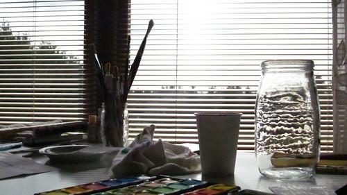 water jar light