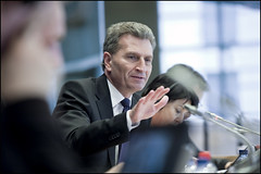 Commissioner for Energy Günther Oettinger mode...