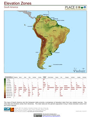 South America: Elevation Zones with Histogram