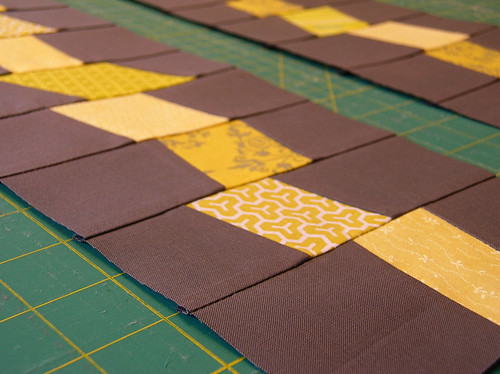 Bee blocks closeup