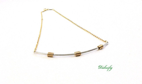 Necklace Sarah Coventry Curved Line Pendant