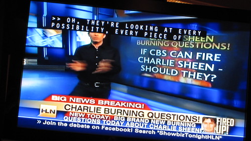 Charlie Sheen Is On Fire