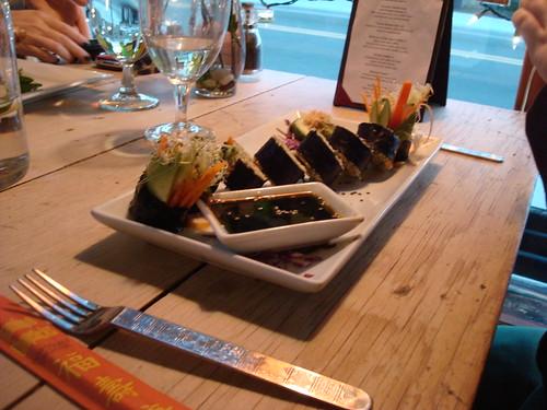 sushi roll w/ parsnip rice