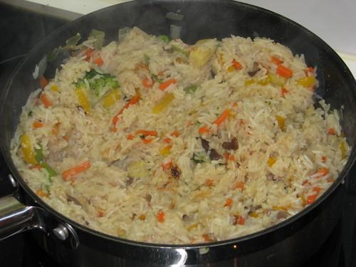 Inge's snelle rijstschotel