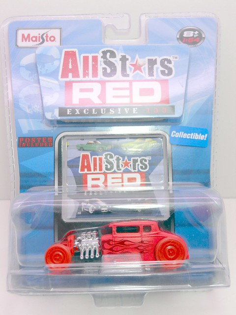 maisto all star red 32 ford chase (1)