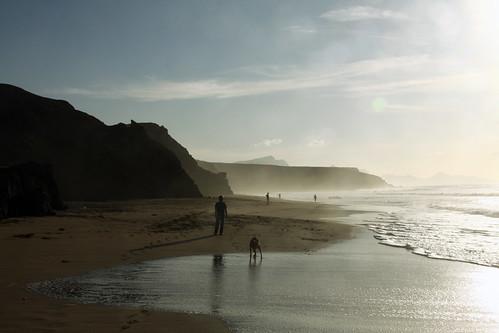 Gegenlicht am Strand