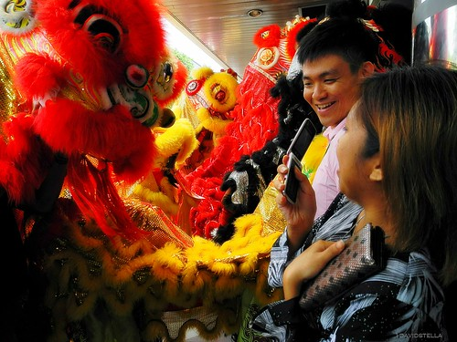 chinese new year celebrations - lion dance